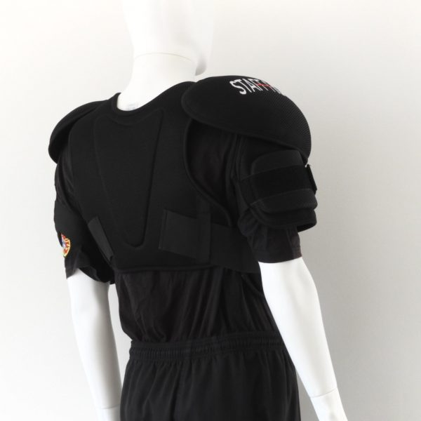 Full Chest pad and Arm Protection by stafffighters back view