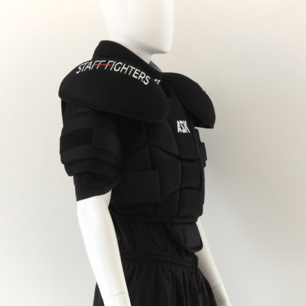 Full Chest pad and Arm Protection by stafffighters side view