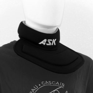 Neck Guard – Neck and Upper Chest Protection Plate - front view